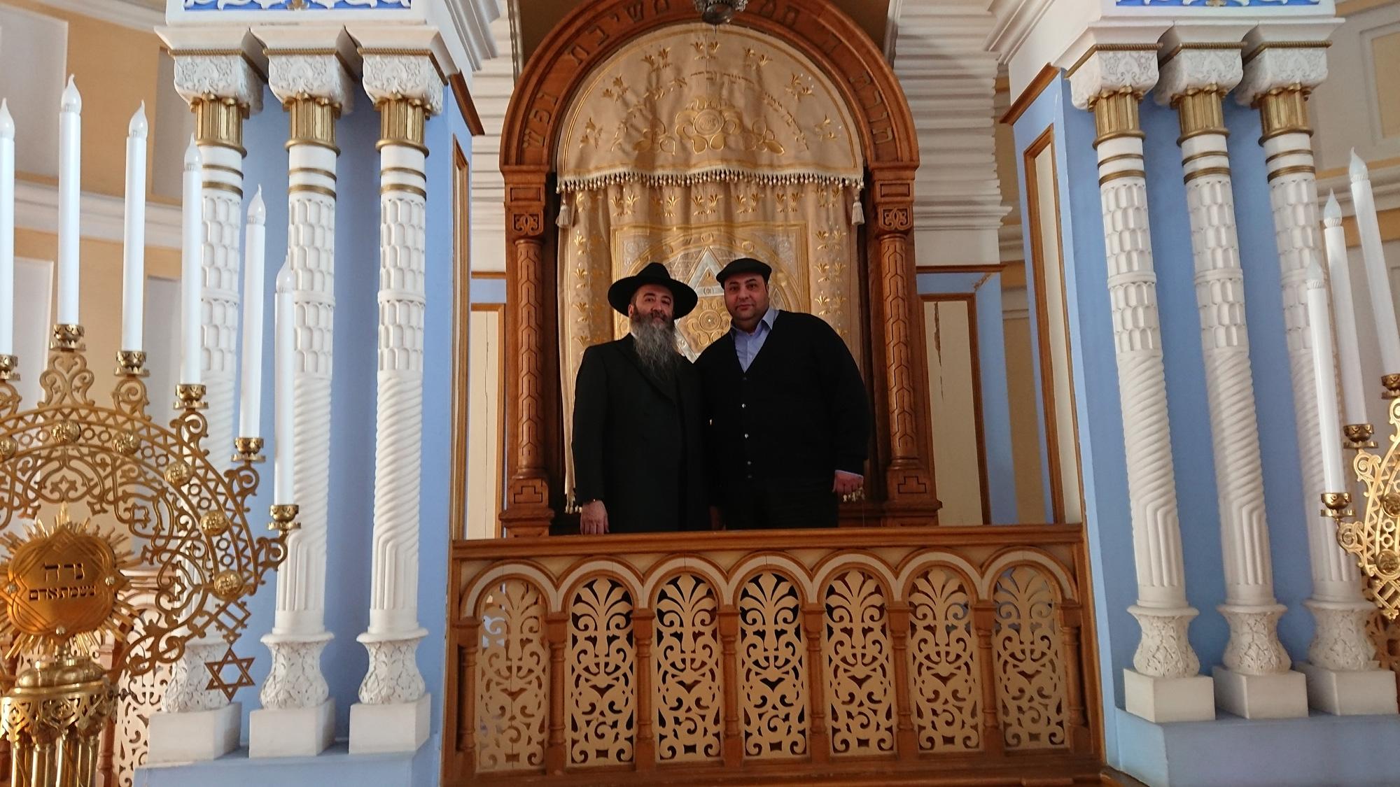 Р. Гилель Хаимов и Исраэль Плиштиев в петербургской Синагоге