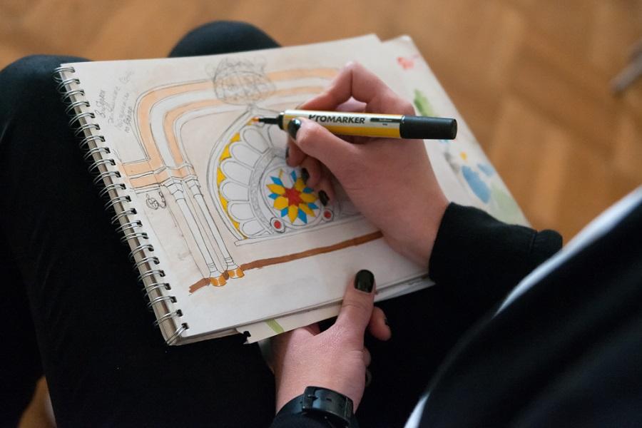 Проект Там и Тут как рисовали Синагогу СПб